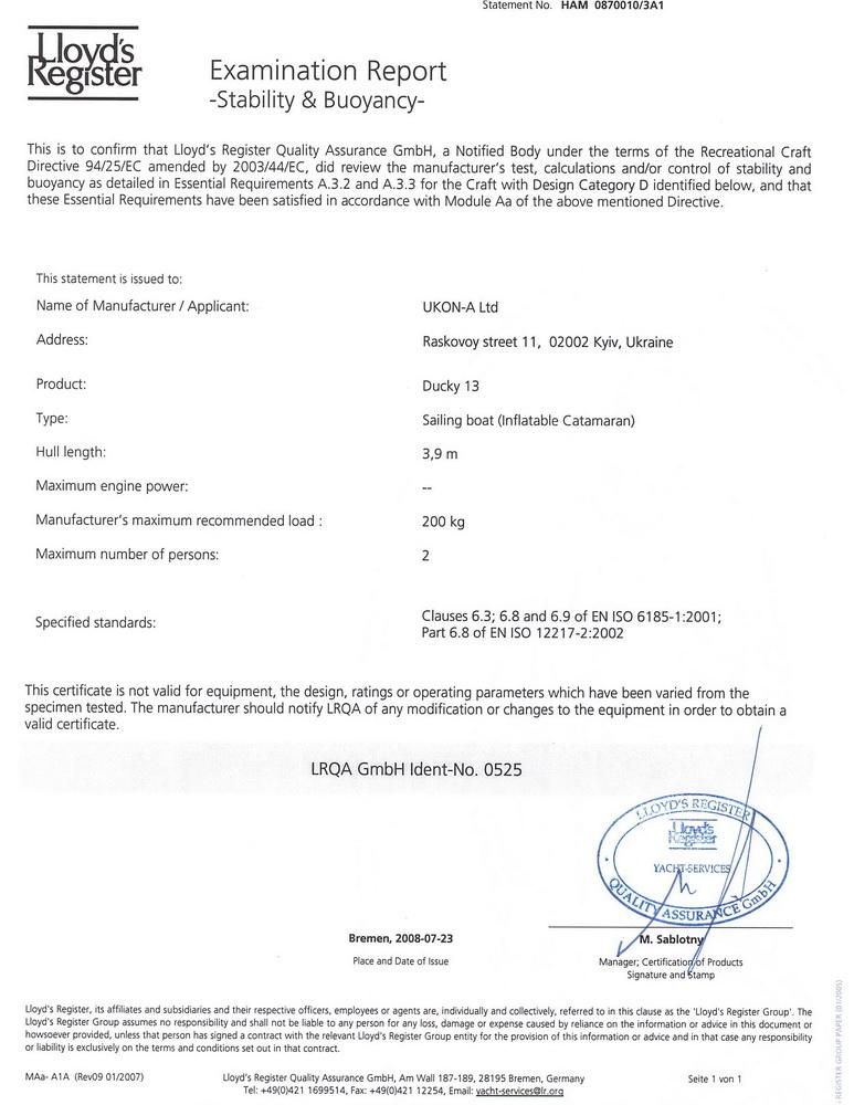 Ducky 13 certificate